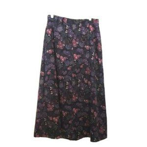 Christopher & Banks Floral Long Skirt 10 w Pockets